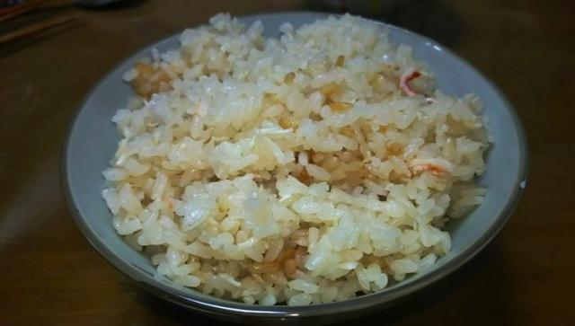 タラバカニの炊き込みご飯