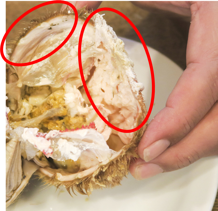 追跡調査】毛蟹のカニ味噌の周り...