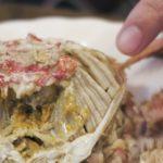 なんと!超新鮮な毛蟹のガニは、ギリギリ・・・あれ、普通に食える!!